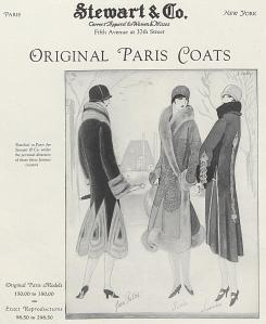Advertisement for an American import house, Vogue, October 1925