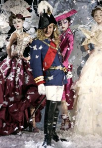 John Galliano at the Christian Dior s/s 2007 Haute Couture show at Paris Fashion Week.