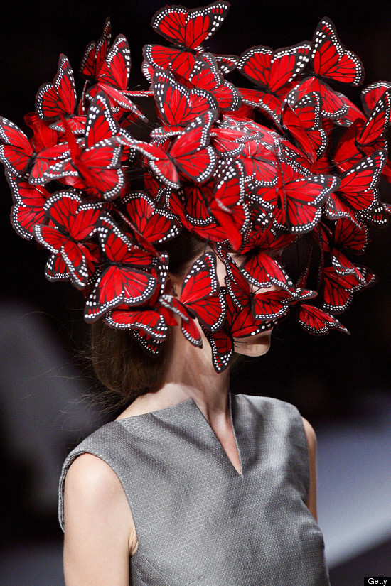 Treacy hat featured in  Alexander McQueen's spring 2008 collection