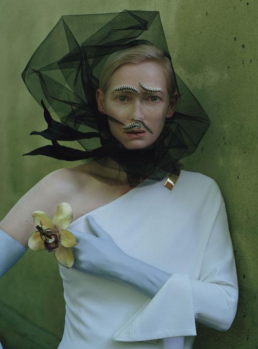 Givenchy by Riccardo Tisci dress; Cornelia James gloves.