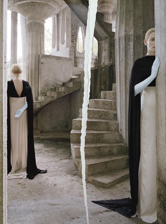 Ann Demeulemeester dress; Cornelia James gloves.