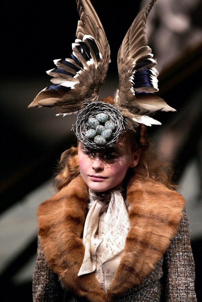 Widows of Culloden Alexander McQueen, F/W 2006-07  Photographer: François Guillot Model: Snejana Onopka Headpiece: Philip Treacy & Shaun Leane