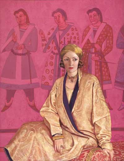 Portrait of Natasha Rambova by Svetoslav Roerich, 1926, Roerich Museum Collection