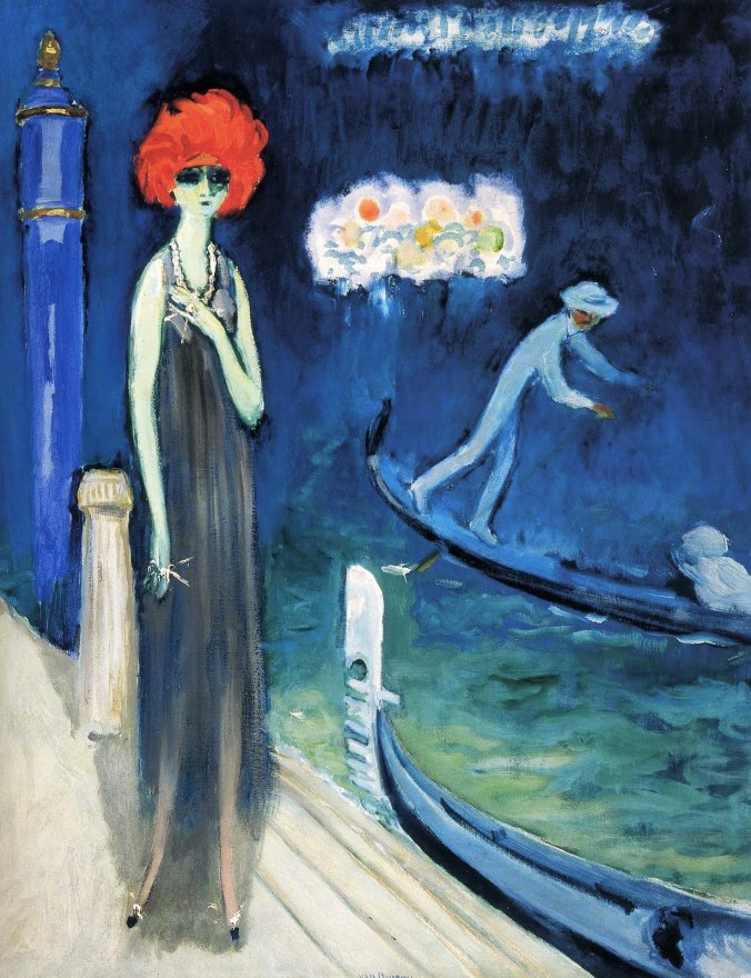 Marchesa Luisa Casati in The Quai, Venice by Kees van Dongen, 1921.