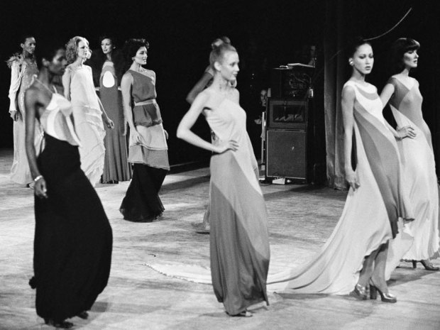A still from Stephen Burrows runway presentation at Versailles '73. Photo credit: arts.nationalpost.com