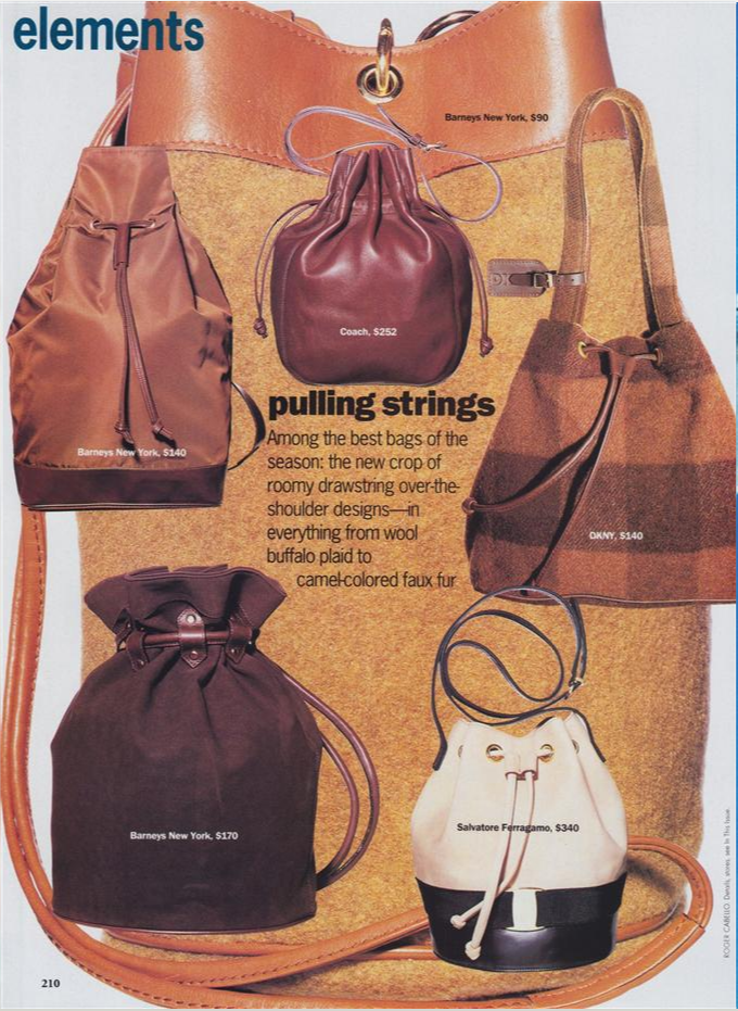 15fea04ba1cd Before Mansur Gavriel…A Brief History of the Bucket Bag