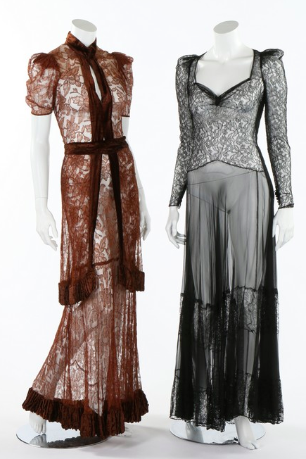 Lot 155 : Six 1930s evening gowns.