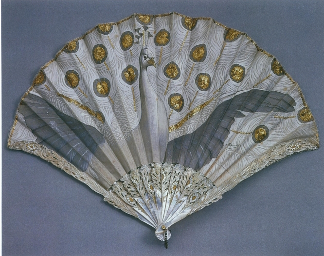 Folding fan by Adolphe Thomasse for Duvelleroy, Circa 1905-1910. In the collection of the Philadelphia Museum of Art.