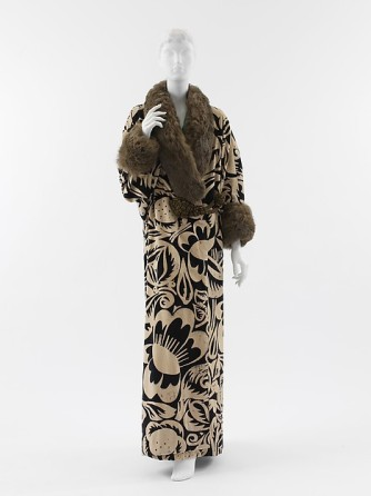 1911 silk metallic thread fur poiret
