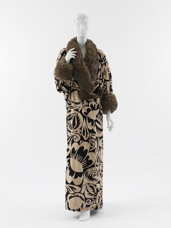 1911 silk metallic thread fur poiret
