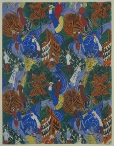 Pencil and gouache textile design by Dufy for Bianchini-Férier. In the collection of the V&A, London.