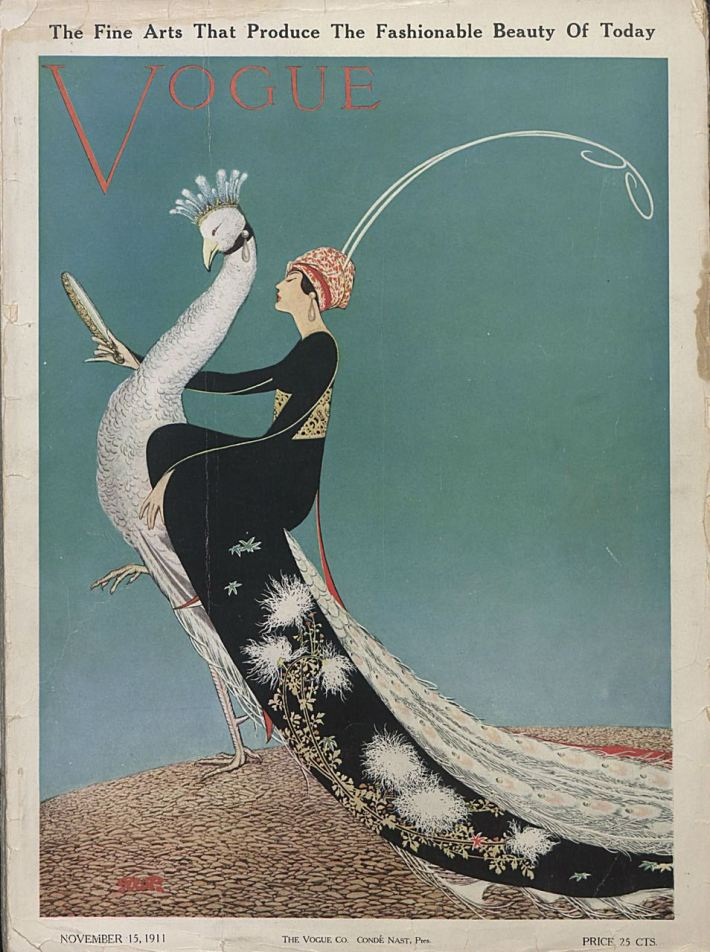 Vogue cover by George W. Plank, November 1911.