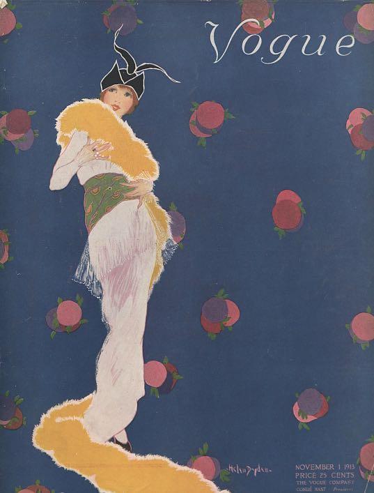 Illustration by Helen Dryden for the cover of Vogue, November 1, 1913.