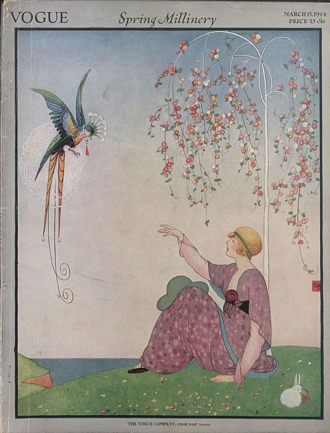 Vogue cover by George W. Plank, March 1914