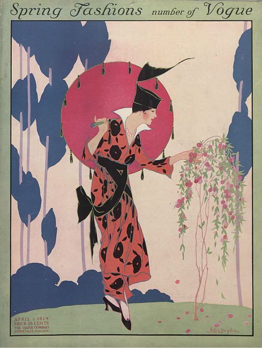 Cover of Vogue magazine by Helen Dryden, April 1, 1914.