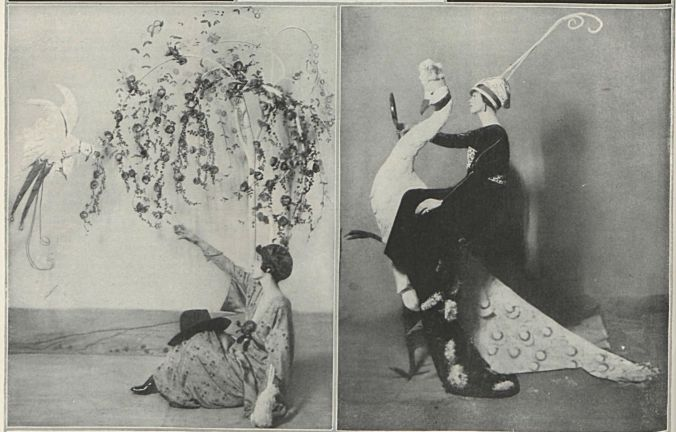 Photographic reproductions of Vogue covers by George W. Plank.
