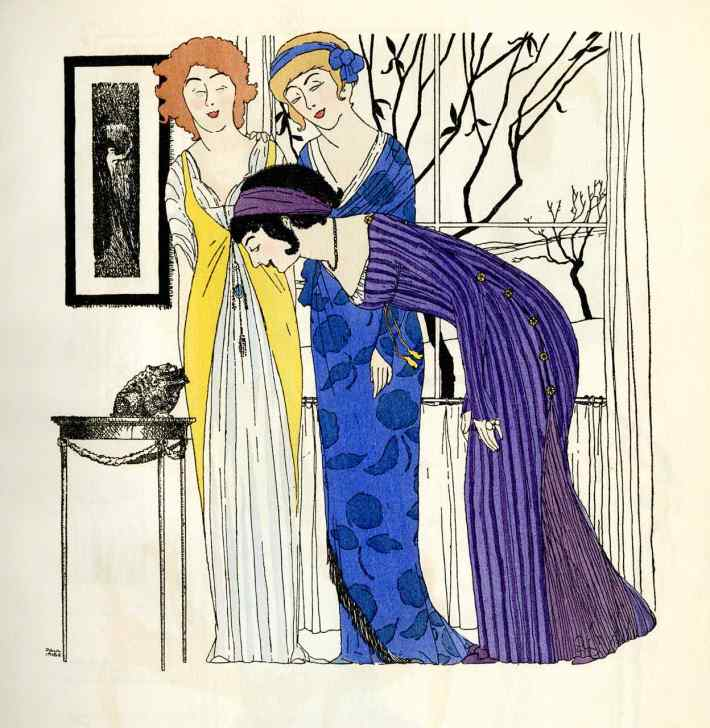 Illustrations by Paul Iribe in Les Robes de Paul Poiret, 1908.