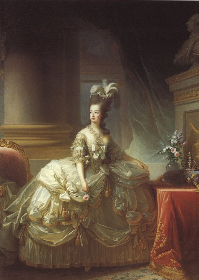 Marie Antoinette, Queen of France as painted by Elisabeth Louise Vigée-LeBrun, 1778.