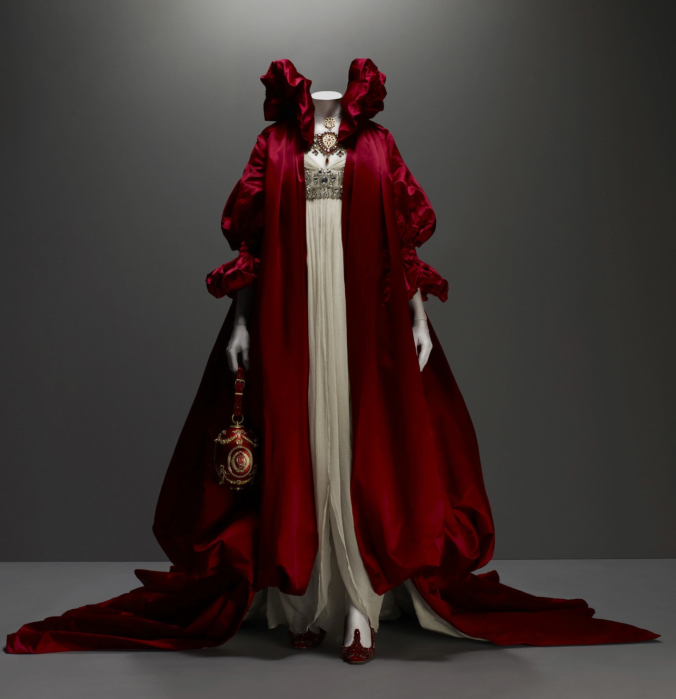 McQueen evening cloak